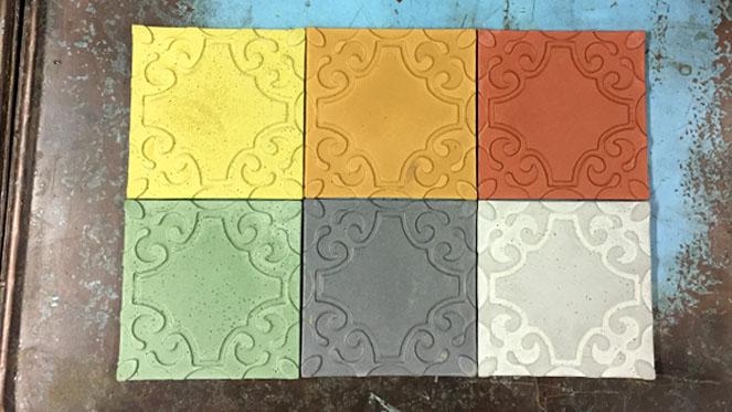 Färgpulver betong