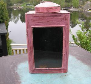 Lykta i rosa (återanvänd)